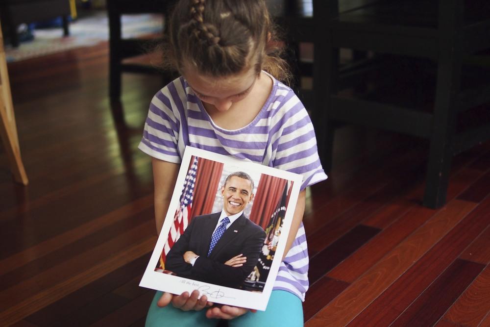 Write the president.  He'll write back.