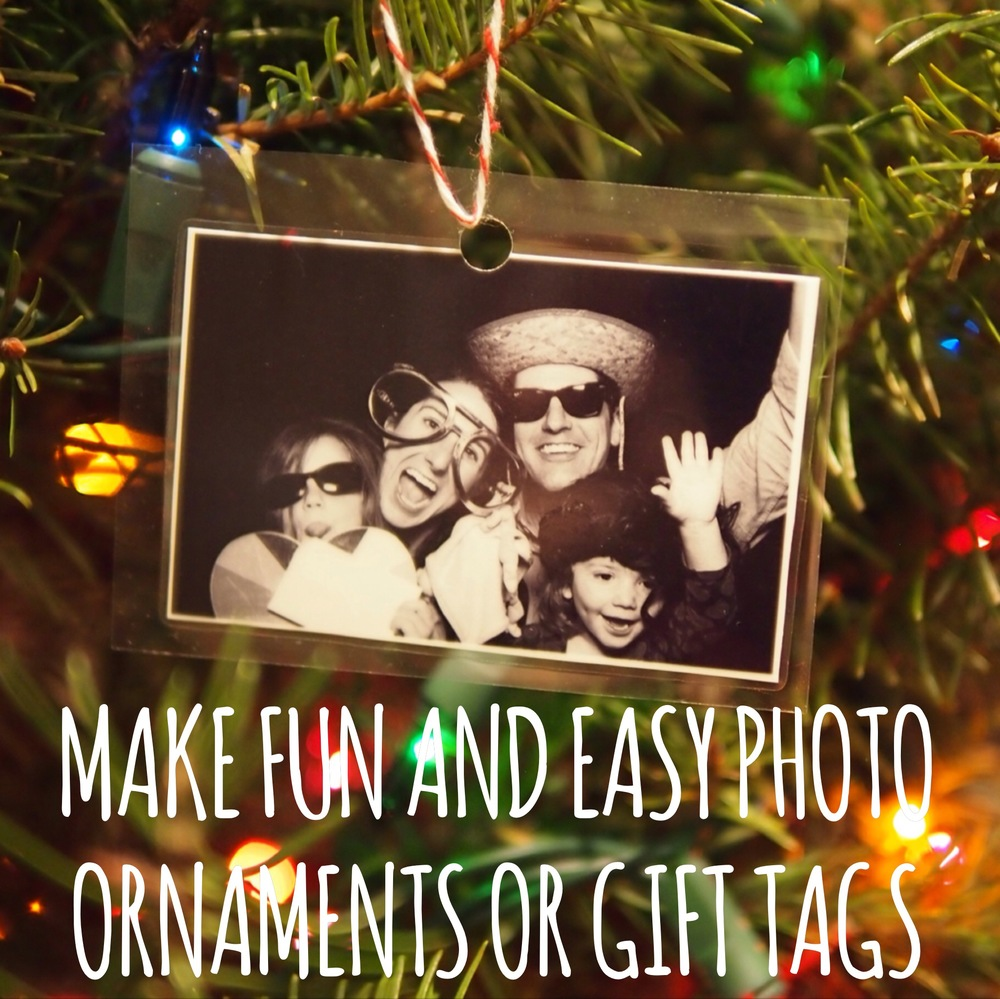 Make cute, fun and easy photo ornaments or gift tags.