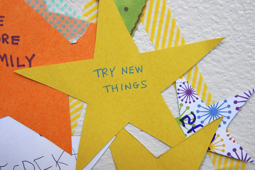 Family new year activity.  Build a family star of wishes for the year.