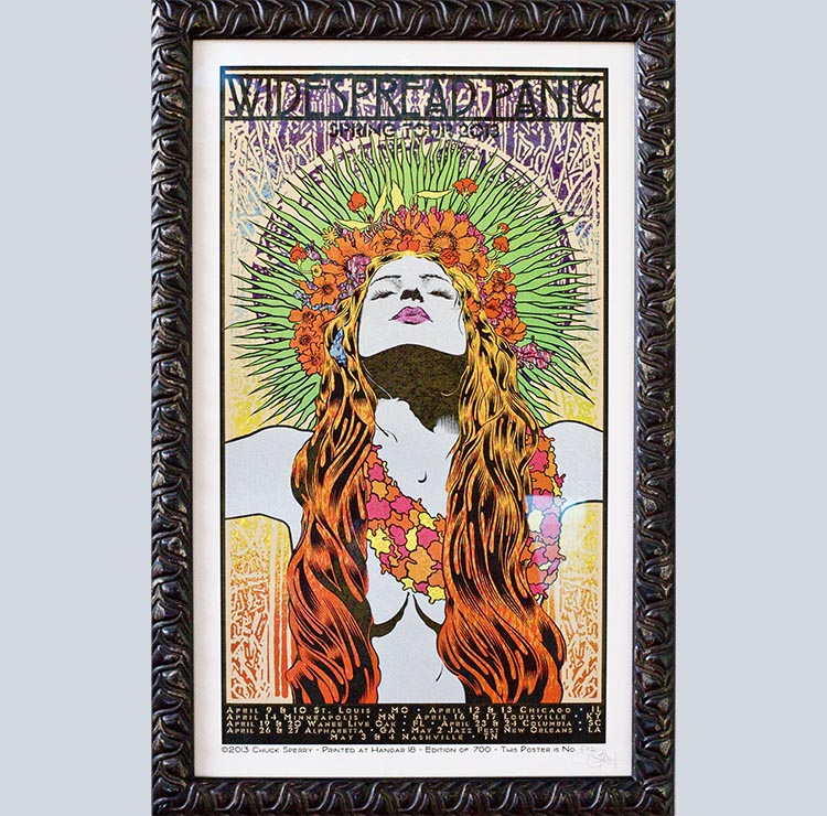 ... Panic concert poster custom framed at Metro Frame Works in Denver