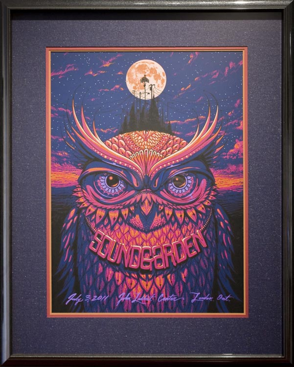 Soundgarden Framed Concert Poster