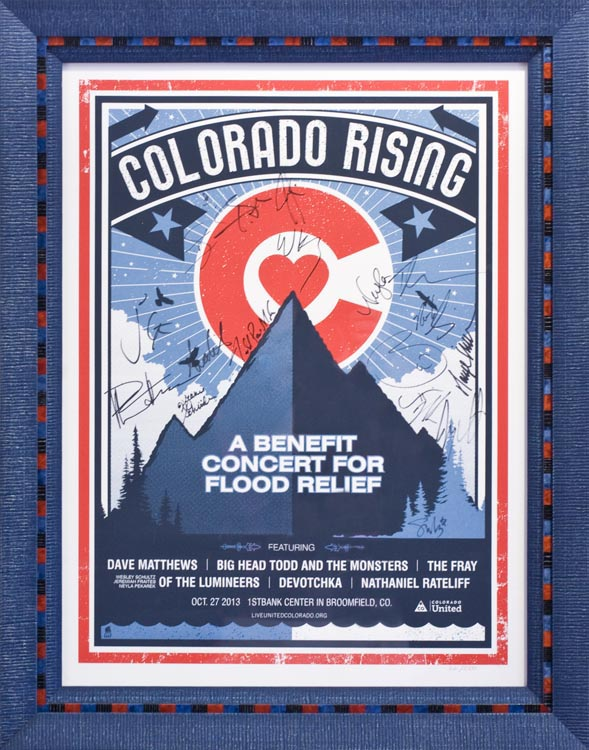 Colorado Rising Framed Concert Poster