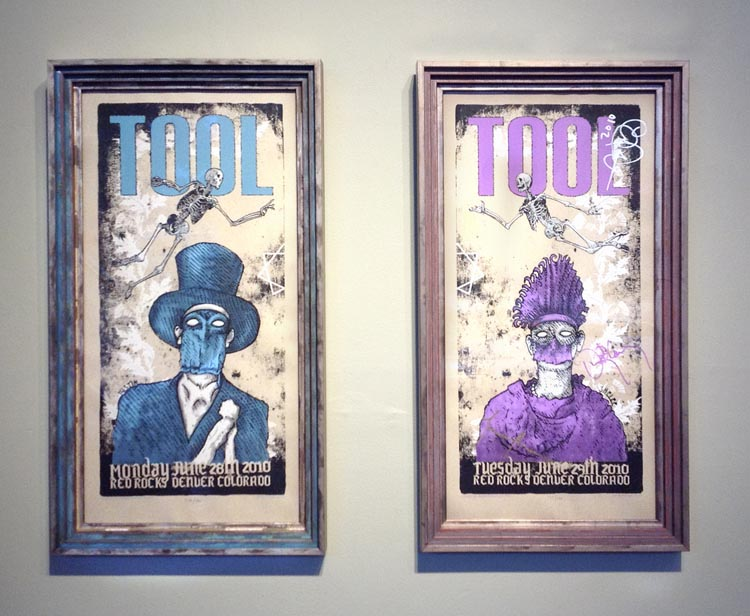 Tool at Red Rocks Concert Poster