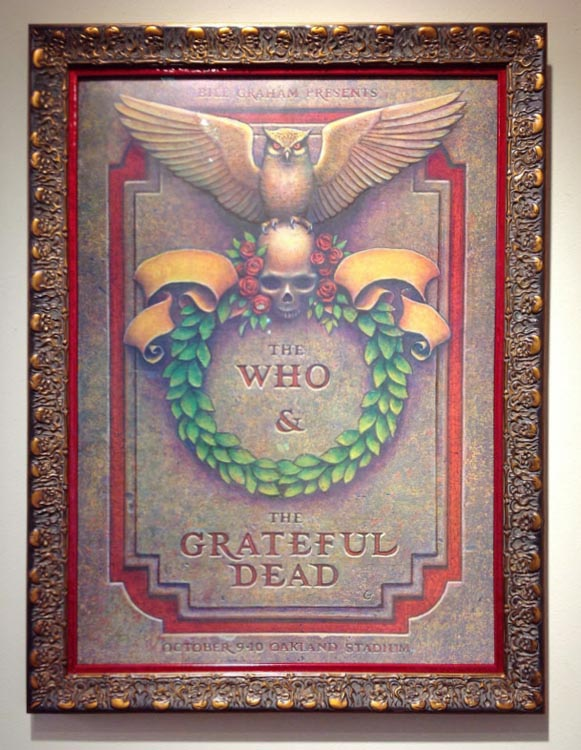 The Who and Grateful Dead Framed Concert Poster