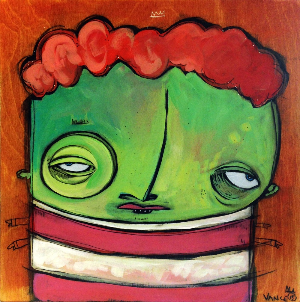 Super Freak, 12x12, mixed media on clayboard, $230