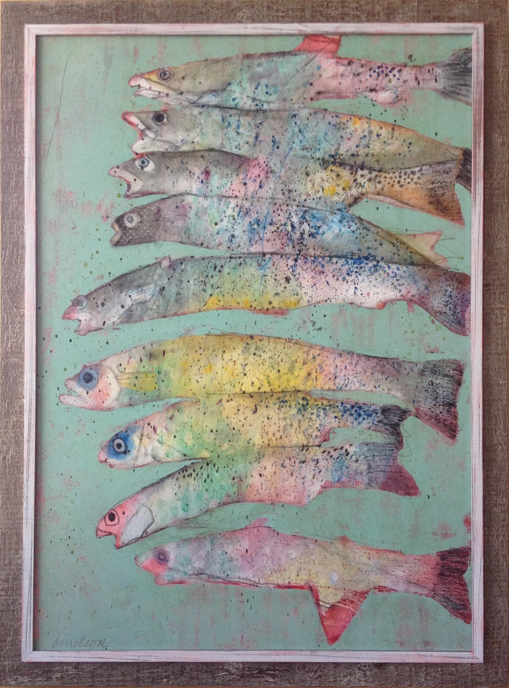 Deborah Donelson, Nine Fish Stacked