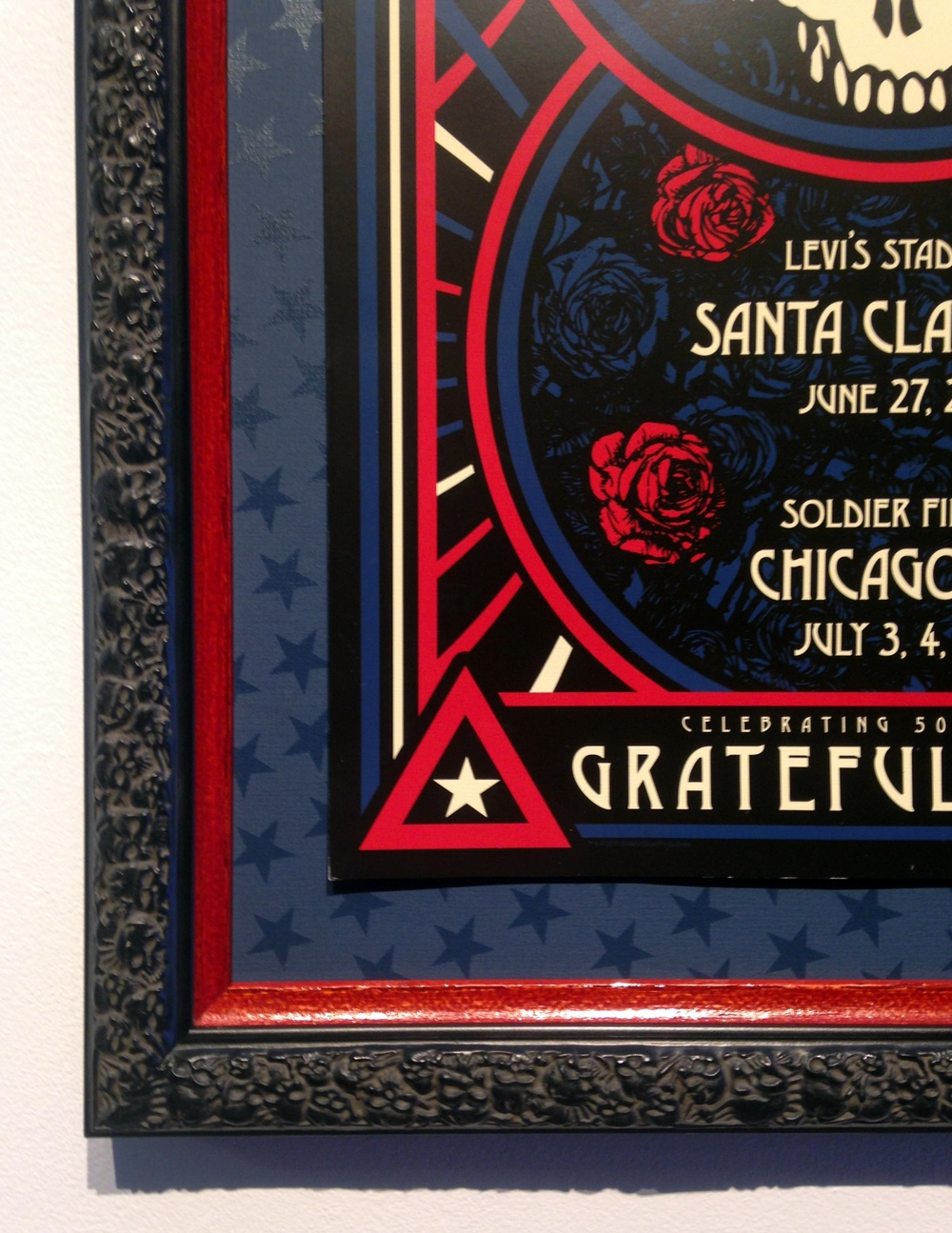 Detail of custom star mat and double frame