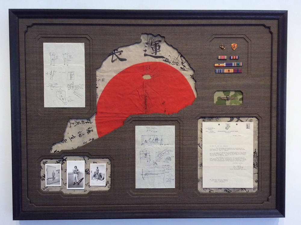 War memorabilia with custom mat openings