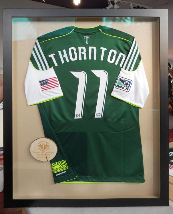 soccer jersey framing, frame for Futbol jersey