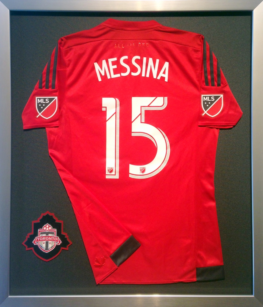 Toronto FC signed jersey with custom logo.