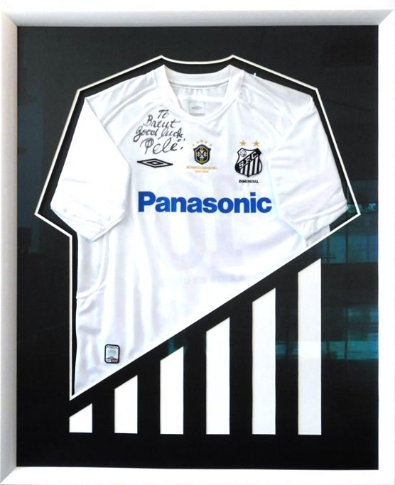 Signed Pele jersey with Santos football club
