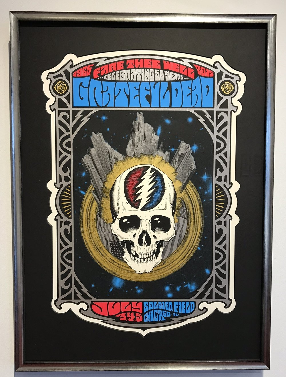 Grateful Dead framed Fare Thee Well Poster