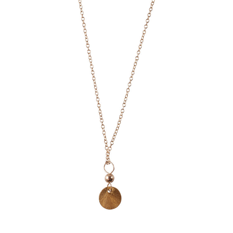 Golden disc pendant sayulita sol jewelry golden disc pendant aloadofball Images