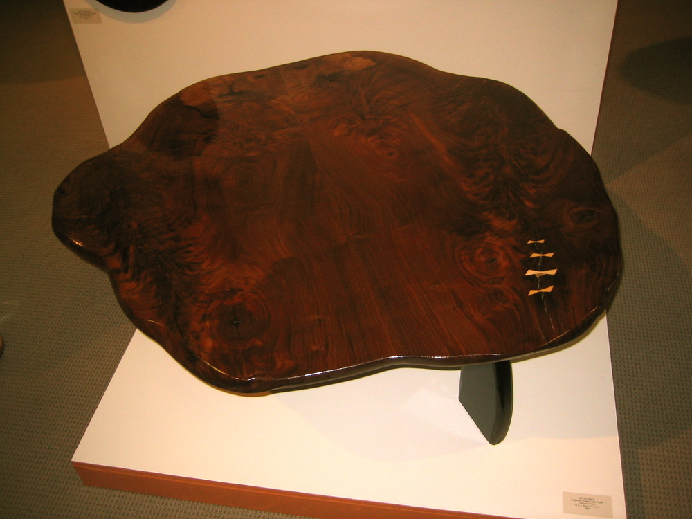 Walnut Coffee Table. My first table and piece in a show, It was a step down a road I haven't left.