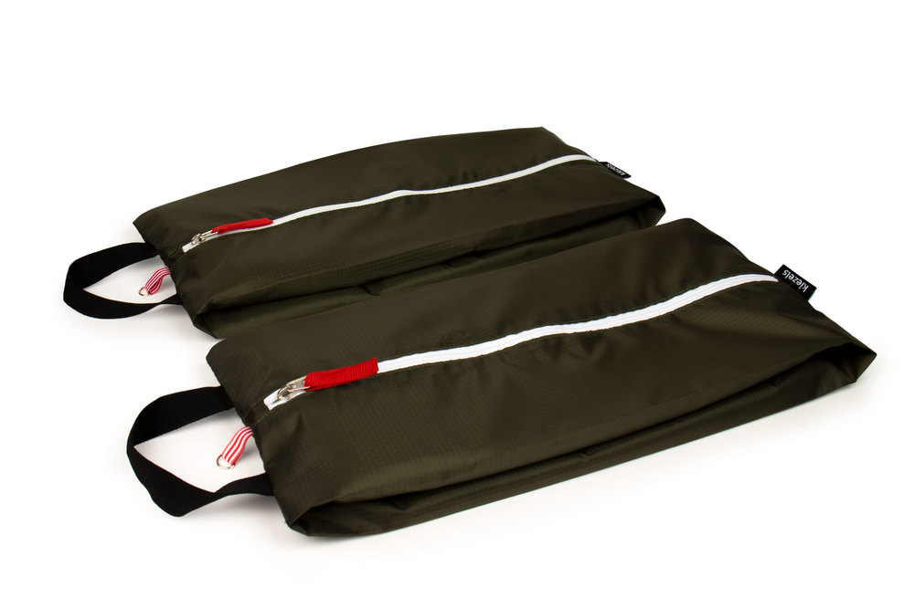 No. 308 Travel organiser bags / shoe bags - size L - armee green € 21,-