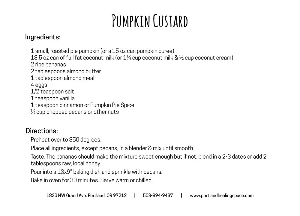 pumpkin custard back