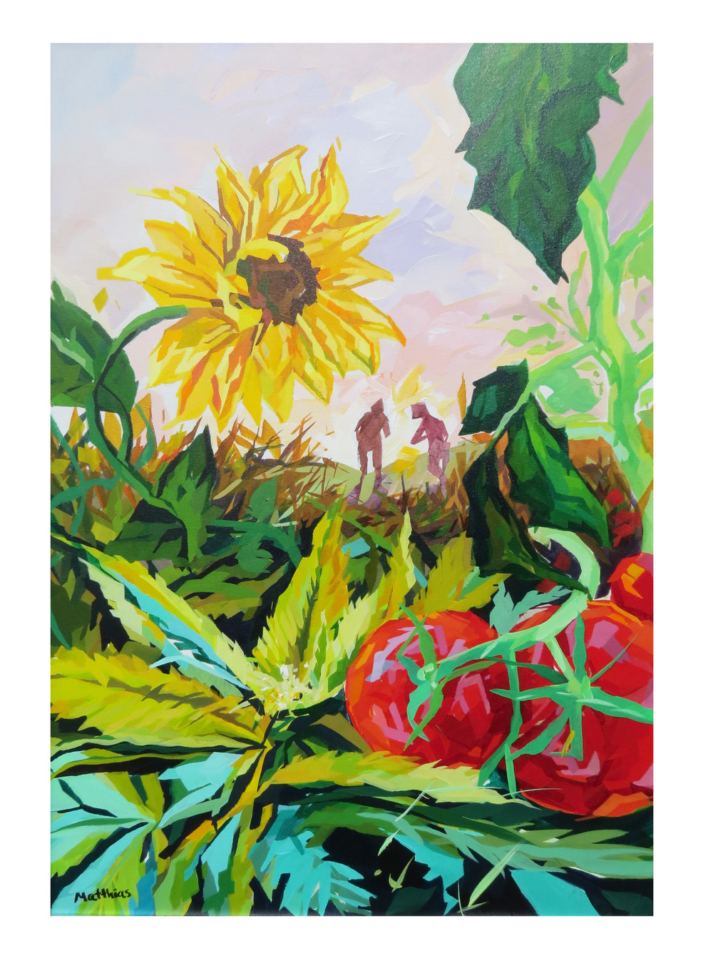 Tomatoes and Bud 24x36