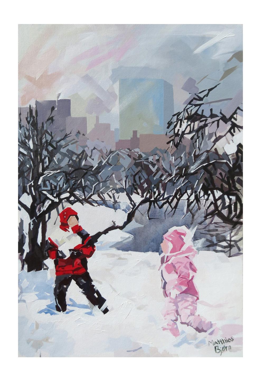 City Snow 24x36