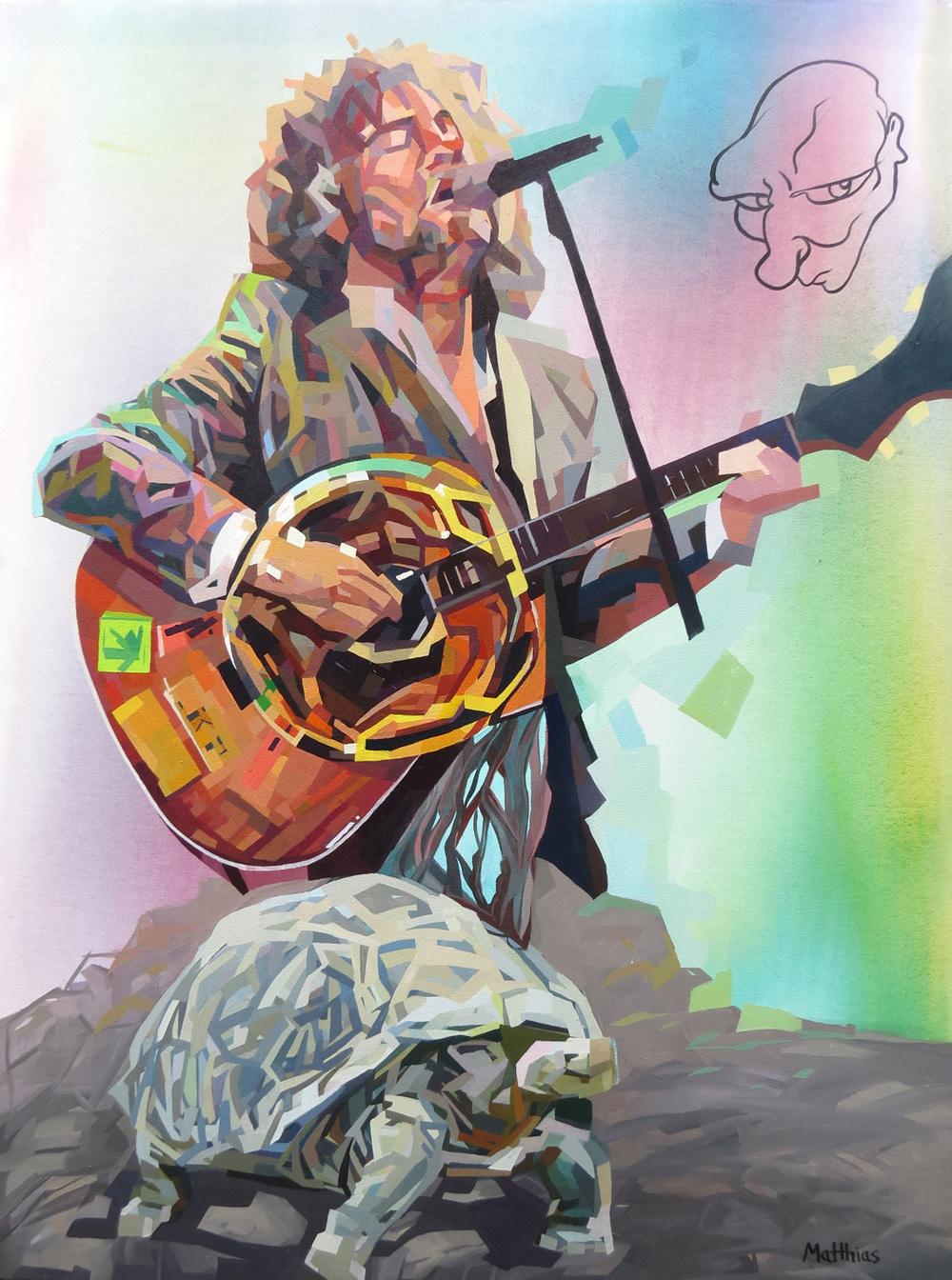 Wayne and the Tortoise 36x48