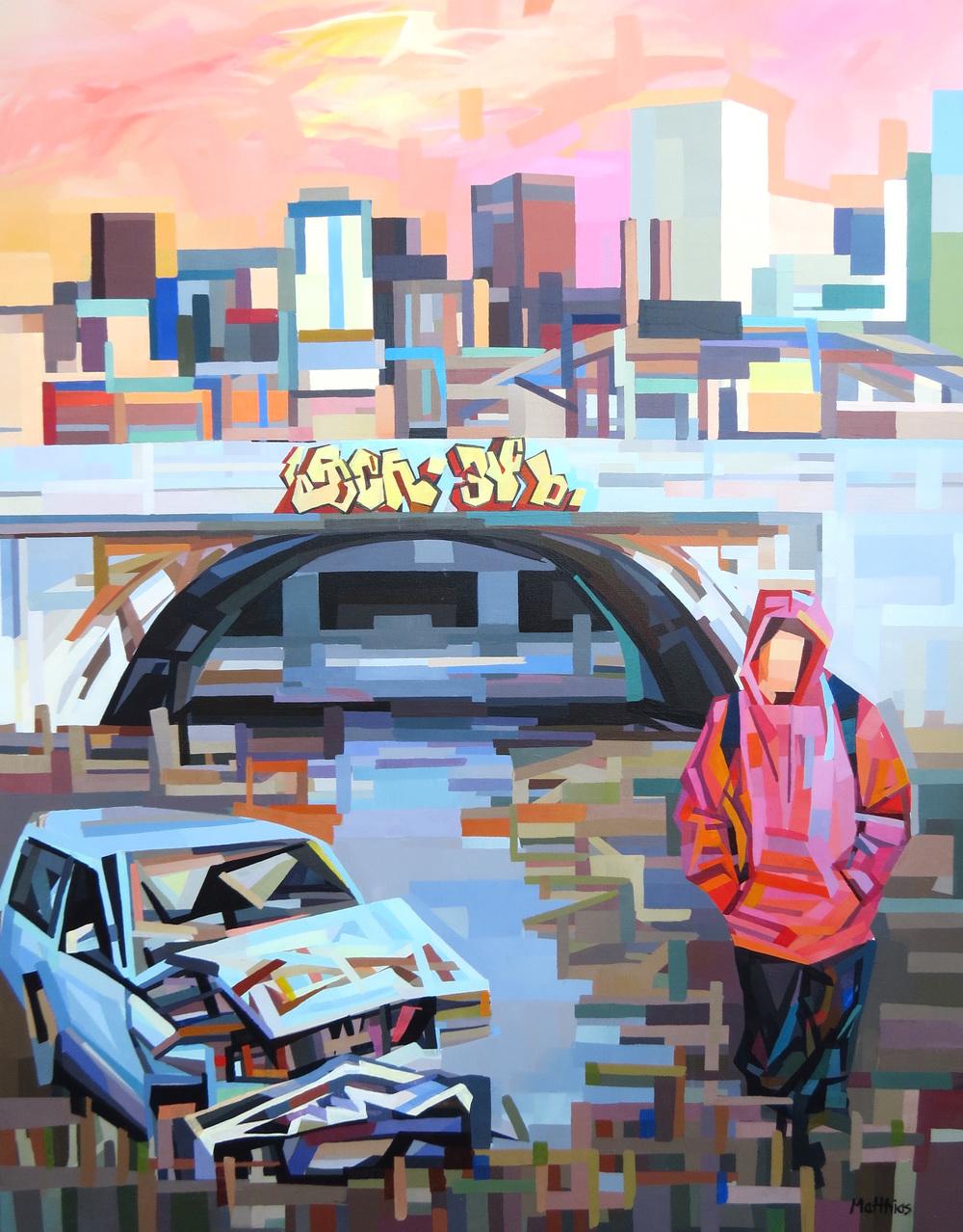 Urban Landscape 3 48x36 sold