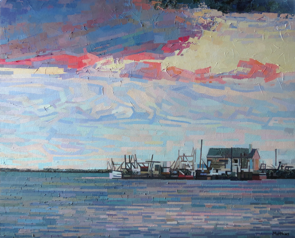 Moody Pier 30x24 sold