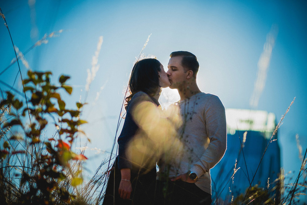 Engagement Session at Nashville Pedestrian Bridge