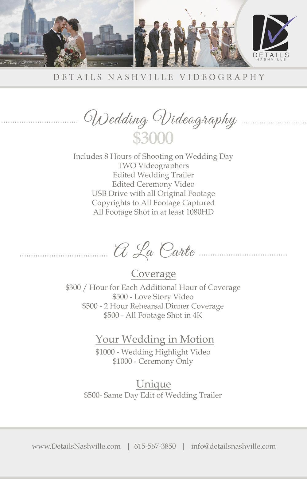 Details Nashville Wedding Videography