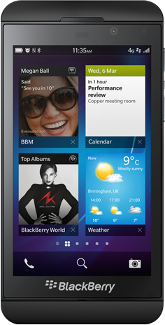 This is the BlackBerry Z10, BlackBerry's flagship keyboard-less phone with BlackBerry 10.