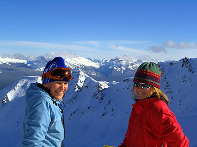 From the peak of Marmot Basin: Photo by Tourism Jasper