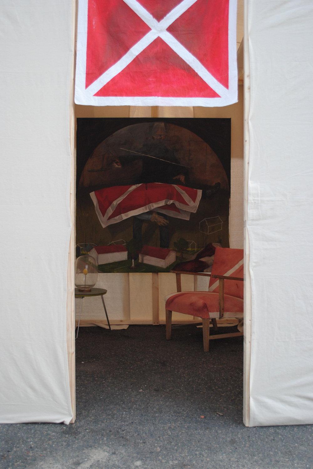 Installation View, Luxury Tent