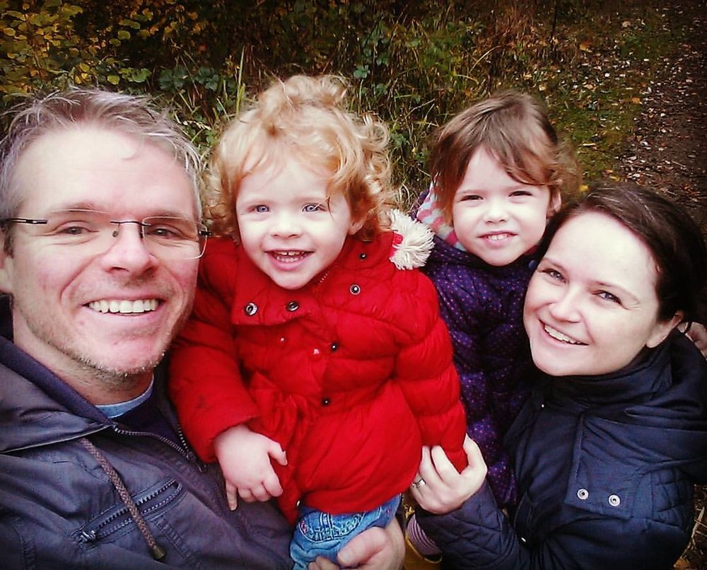 On a walk in the woods with my beautiful girls!