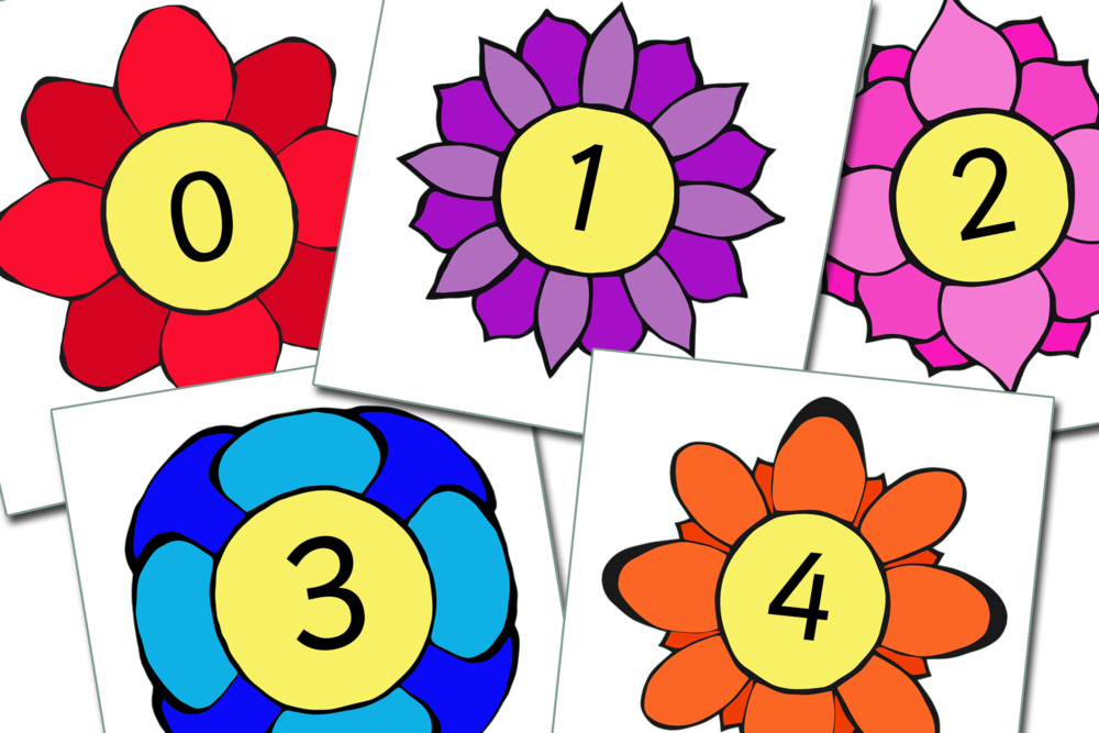 FLOWERS NUMBERS 0-30