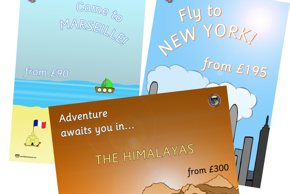 Airport/Travel Agents Travel Posters/Role-Play Prompts