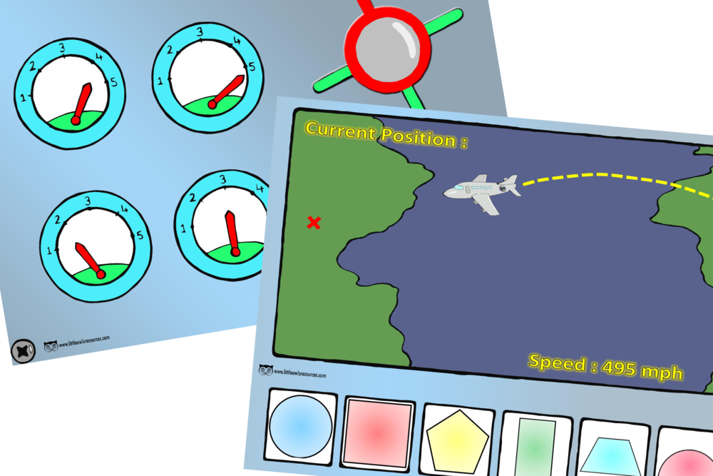 Aeroplane Cockpit Controls Role-Play Prompt/Activity