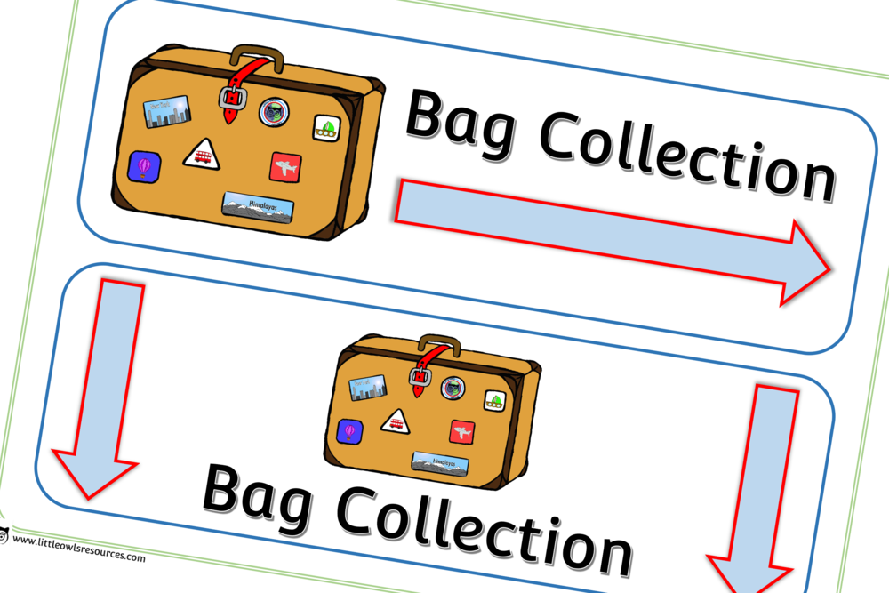 Airport 'Bag Collection' Role-Play Area Posters/Prompts/Signs