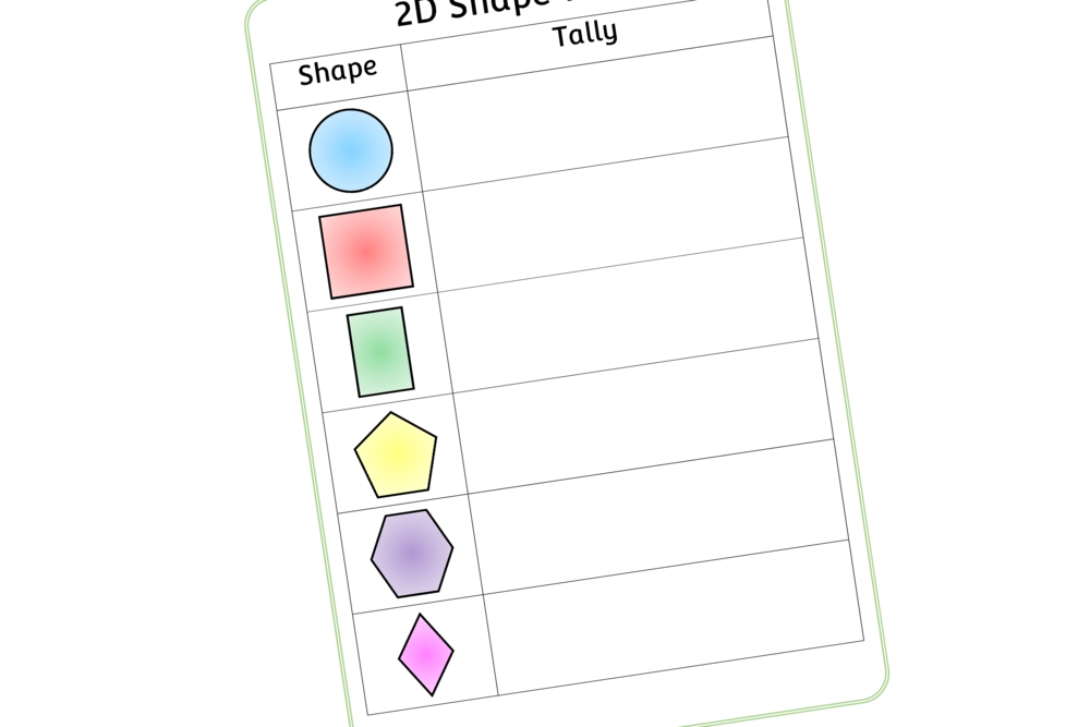 2D SHAPE WALK SHEET
