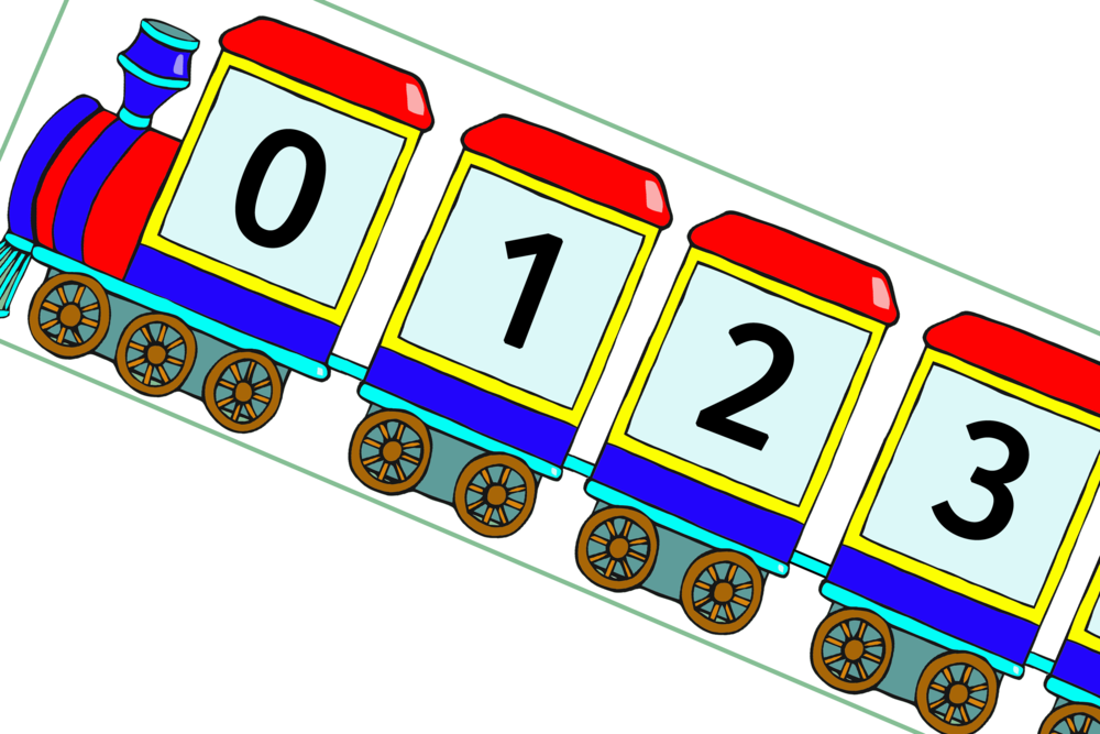 STEAM TRAIN NUMBERS 0-100