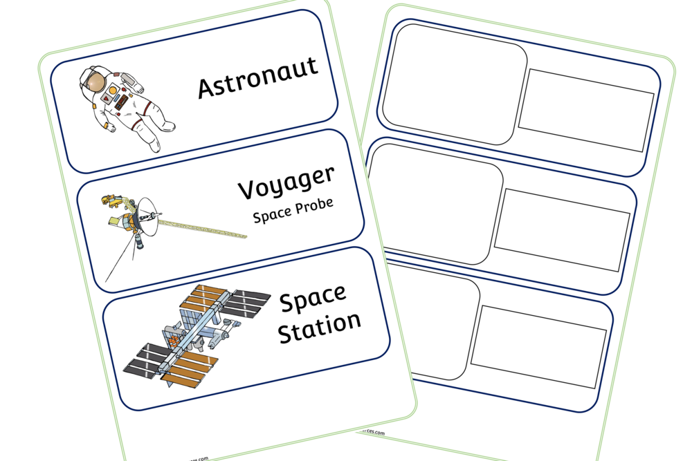Space Word Cards