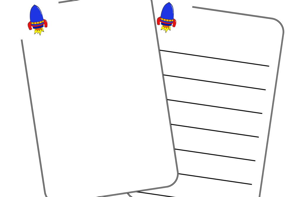 Rocket Writing Sheets