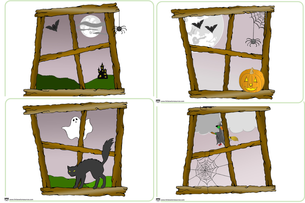 SPOOKY HALLOWEEN HOTEL WINDOWS