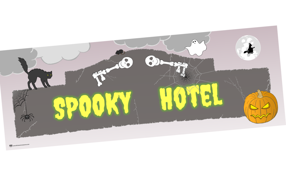 SPOOKY HALLOWEEN HOTEL BANNER