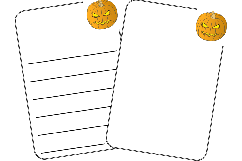 Halloween Pumpkin Writing and Drawing Template