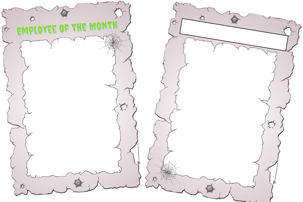 Spooky Halloween Hotel 'Employee of the Month' Portrait Template