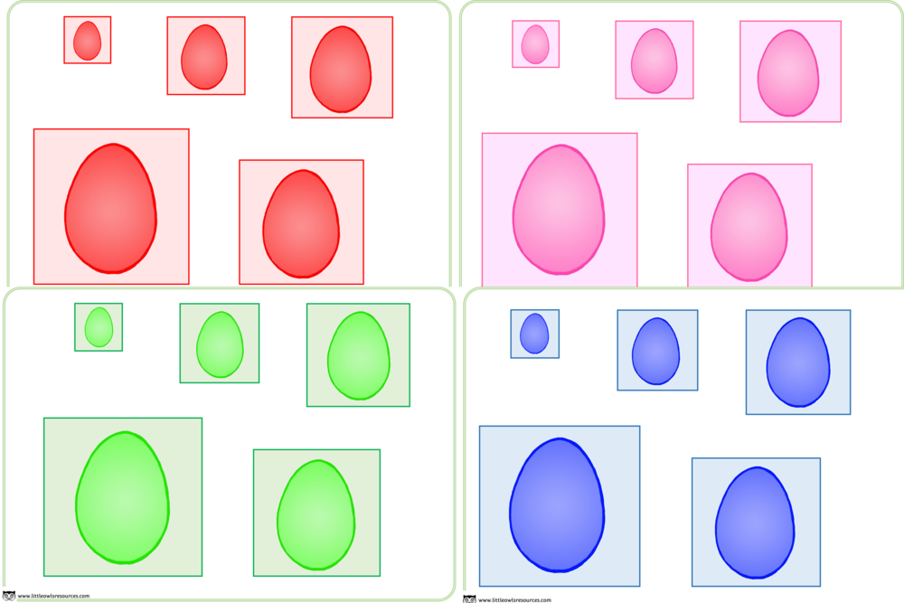 Colour Egg Size Ordering Activity/Game