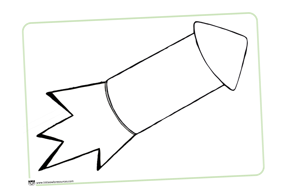 Large A4 blank collage/loose parts rocket template