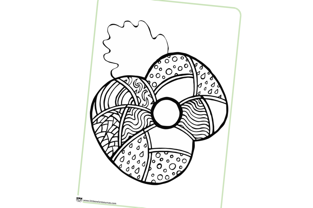 POPPY MINDFULNESS COLOURING