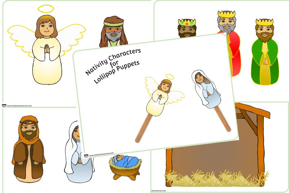Nativity Lollipop Puppets