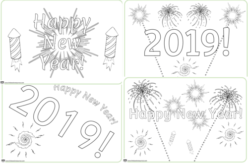 New Year Colouring