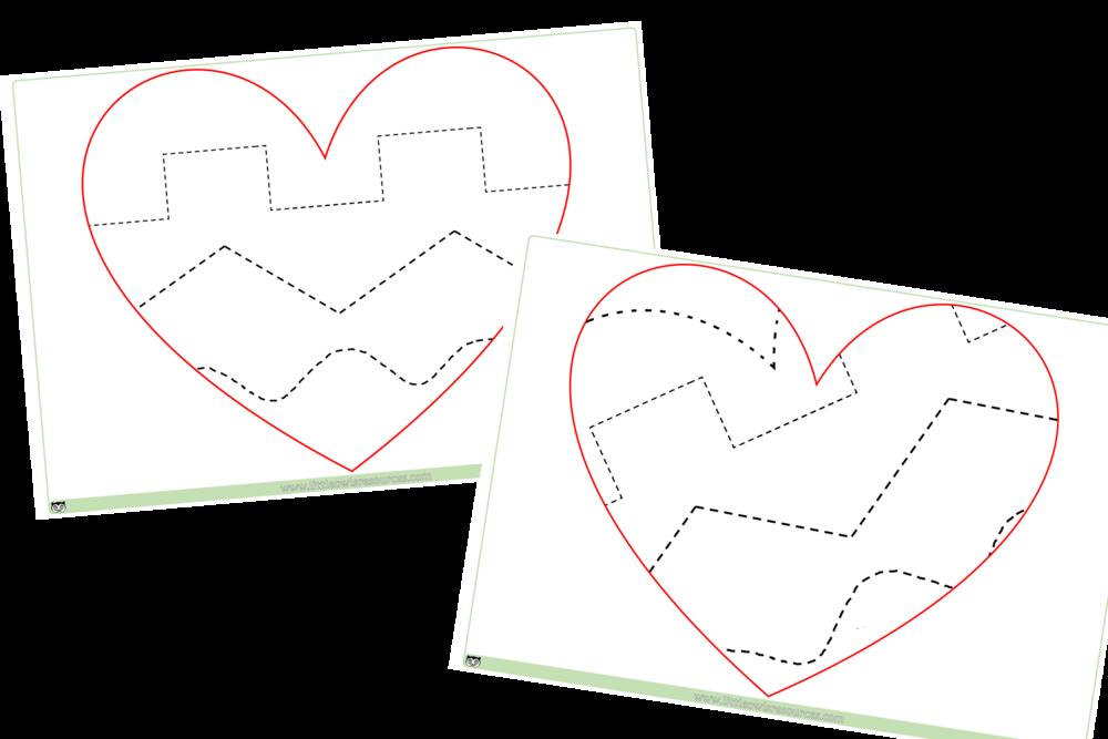 FINE MOTOR CONTROL HEARTS - MARK MAKING - LOOSE PARTS - SCISSOR SKILLS