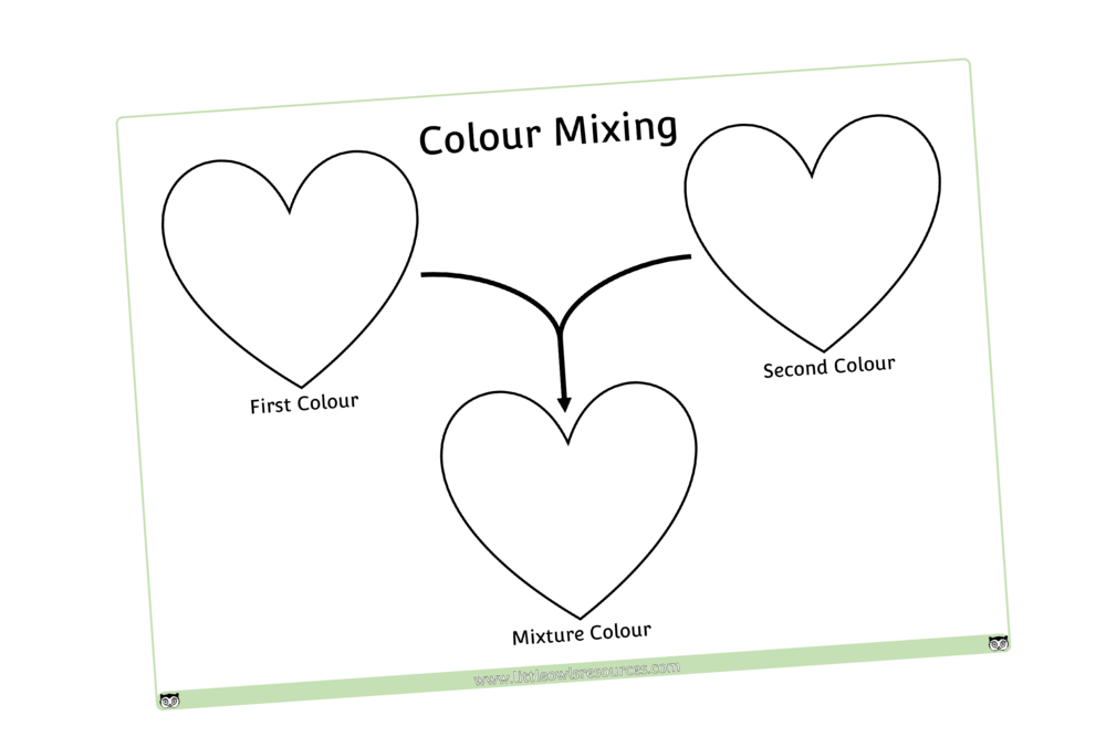 COLOUR MIXING HEARTS EXPERIMENT/DISPLAY